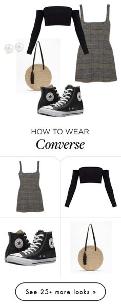 """""""Basket bag"""" by paiger2820 on Polyvore featuring Express, AlexaChung, Converse, Kenneth Jay Lane and basketbags"""