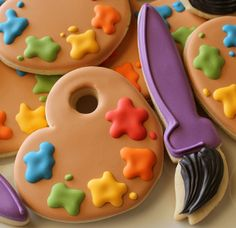 Paint Palette Cookies | Flickr - Photo Sharing!