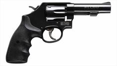 Smith & Wesson K-frame revolver with Pachmayr grips Smith N Wesson, You Magazine, Love Gun, Apocalyptic Fashion, Cool Guns, Love To Shop, Black Rubber, S Models, Firearms