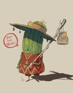Cactio, the nachos merchant by guillegarcia