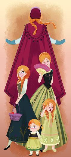 Anna From Frozen Fan Art | disney anna frozen Princess Anna kristoff Disney fan art disney frozen ...