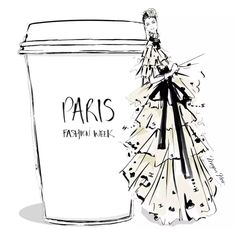 Megan Hess: Leave it to meganhess_official to always represent amp; Megan Hess Illustration, Illustration Mode, Coffee Illustration, Coffee Cup Art, Coffee Girl, Silhouette Mode, 3d Templates, Kerrie Hess, Fashion Art