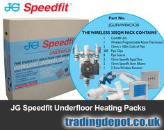 John Guest Speedfit manufacture handy underfloor heating kits ideal for extensions and conservatories.