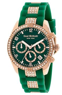 Isaac Mizrahi green gold watch, so beautiful.