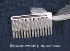 How to Make a Wedding Veil With Comb, Step 5 - My Online Wedding Help. Wedding Planning Tips & Tools to Plan Your Wedding by step wedding planning Simple Wedding Veil, Simple Weddings, Wedding Veils, Bridal Veils, Wedding Bouquets, Wedding Dresses, Wedding Planning Notebook, Wedding Planning Tips, Diy Wedding Projects