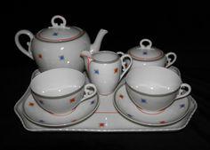 Tête-à-Tête Eletro Cerâmica do Candal Art Deco, Vintage Tea, Sugar Bowl, Bowl Set, Portuguese, Portugal, Electrum, Teapot, Modern