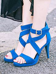 Shoes For Women Stiletto Heel Platform Gladiator Open Toe Sandals Party Evening Dress Dress Casual Blue Red Gray