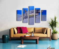 Polyptych, shark, painting, stretched,split,canvas,  panels,underwater,world,scene,fish,seascape,wall,art,ocean,life,blue,nature,sea,great white shark,tropical,deep,ocean,saltwater,light,illumination,patterns,wildlife,home,office,decor,beautiful,awesome,artwork,artistic,modern,aqua,blue,turquoise,beautiful,images,fine,art,oil,contemporary,realism,figurative,items,ideas,for sale,pictorem