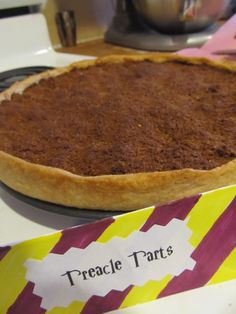 Treacle tart at a Harry Potter Party. This has the cutest Harry Potter themed birthday party. It's intended for a young child, but I'm thinking my next birthday needs a theme.