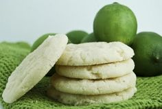 What a perfect summer cookie! coconut lime sugar cookies...