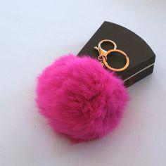 Limited Edition Genuine Rabbit fur pom pom by YogaStudio55 on Etsy