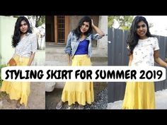 Styling Skirt for Summer 2019 India - Reuse Old Clothes for Summer 2019 in today's video. How about styling 1 skirt in many ways Here is my NEW VIDEO S. Summer Skirts, Summer Outfits, Reuse Old Clothes, Mustard Skirt, Summer Fashion Trends, Skirt Outfits, Affordable Fashion, My Wardrobe, Street Fashion