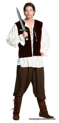 Plus Size Egan the Village Rogue Renaissance Costume - Candy Apple Costumes