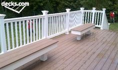 Wayne_Azek Decking with PVC railing with 2 custom made benches