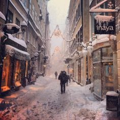 Snow in Gamla Stan, Stockholm