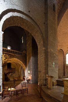 North transept, Abbaye de Gellone, Saint-Guilhem-le-Désert (Hérault) Photo by Dennis Aubrey