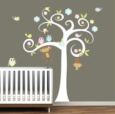 Boy Girl Nursery Tree Decal with by Modernwalls on Etsy, $99.00