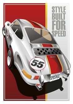 Built for Speed Cristian Maza bei Behance Porsche Autos, Porsche 911 Gt2 Rs, Porsche Cars, Porsche Classic, Us Cars, Race Cars, Porsche Garage, Ferrari, Classic European Cars