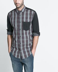 Image 1 of CHECKED COMBINATION SHIRT from Zara