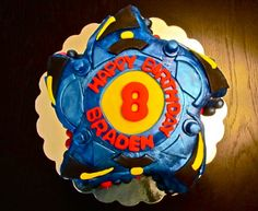 another Beyblade cake design