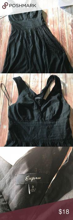 Express black  halter dress Size 2 gently used condition, black dress , Express Dresses Midi