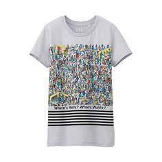 Discover UNIQLO's collection of graphic print T-shirts, comprising designs inspired by the films, art and pop culture you already know and love. Wheres Wally, Uniqlo, Graphic Prints, Uk Online, Sleeve, Mens Tops, T Shirt, Clothes, Printed