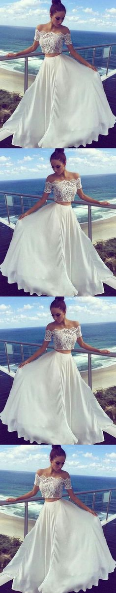 Two Pieces Off The Shoulder Prom Dresses,Long Prom… https://gobabyonline.com