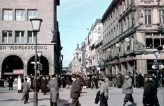 The populated streets of Friedrichstraße in Berlin, right at the onset of the Second World War in the year 1939. Undoubtably there was much to do for the German citizen in order to maintain the nation's strength in the taxing time of war.