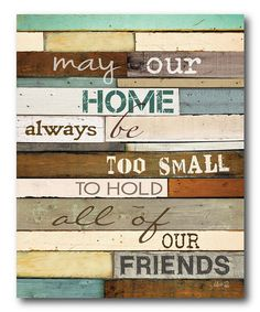 Loving this 'May Our Home' Wrapped Canvas on #zulily! #zulilyfinds