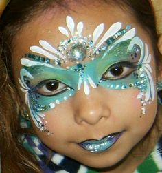 Teal mask #facepainting