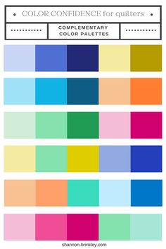 Color Confidence for Quilters: Complementary + Split Complementary Color Palettes