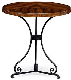 Walnut bistro style parquet table. Our Price: $575.00 Home Bars For Sale, Home Bar Furniture, French Bistro, Dark Wood, Wrought Iron, Home Furnishings, Country, Table, Inspiration
