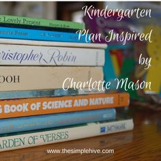 Charlotte Mason inspired plan for Kindergarten