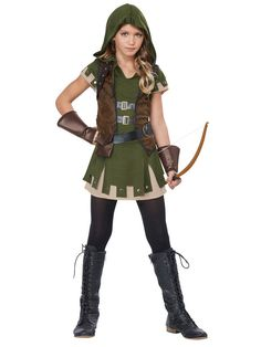 Check out Girls Miss Robin Hood Costume - Wholesale Tween Costumes for Girls from Wholesale Halloween Costumes