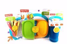 Fisher Price Baby Toddle Food Containers and feeding Bundle Sippy Cup Utensils #FisherPrice