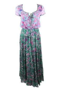 Gryphon Womens Flora Tiered Silk Maxi Dress « Clothing Adds Anytime