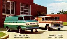 1961 Chevrolet Panel Truck & Corvair 95 Corvan