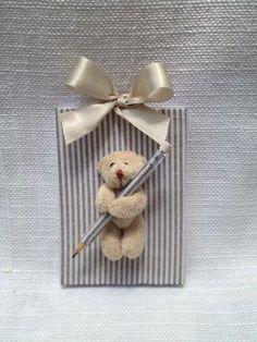 Rosaria Cunha Bloquinho para anotações ..sempre tem um ursinho segurando seu lápis pra você não esquecer de nada!!!️