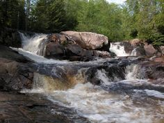 Yellow Dog Falls, Marquette county, 10 miles south of Big Bay