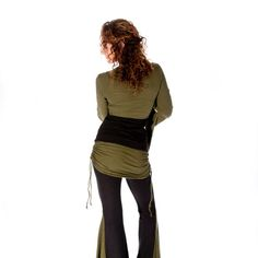 Flared Dance Pants with attached ruched skirt by DervishClothing, $86.00