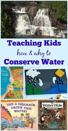 Activities & books that teach kids about Water Conservation & the Water Cycle - great for preschool, kindergarten, elementary and homeschool study! Fun learning for Earth Day and lesson plan ideas for environmental science elementary & middles school. Water Cycle Activities, Earth Day Activities, Science Activities, Spring Activities, Science Books, Science Ideas, Water Kids, World Water Day, Environmental Education
