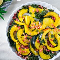So easy, so simple, and so delicious. Roasted squash and crispy kale is a healthy and delicious side. Substitute any winter squash.