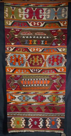 Vintage Nomadic Yörük Kilim from Central Anatolia Turkey by NoahsArkRugs on Etsy