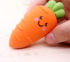 Whimsical XL carrot eraser