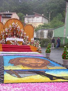 #Altar e imagen principal de la #alfombrad´arriba. #Hotel #migal. #Restaurante #migal. #Cue. #Llanes. #Asturias. #Spain.