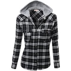 Awesome21 Women's Flannel Plaid Checker Rolled up Shirts Blouse Top ($20) ❤ liked on Polyvore featuring tops, blouses, shirts, jackets, long sleeves, long sleeve tops, tartan shirt, checkered shirt, long sleeve blouse and checkered flannel shirts