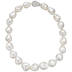 Estate Betteridge Collection Semi-Baroque Cultured South Sea Pearl Necklace