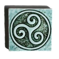 Spiral Triskele Celtic Symbol 2 Handmade by LesperanceTile