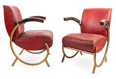 Art Deco French Tubular Chairs, Pair, I on OneKingsLane.com