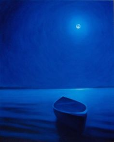 Blue moon and row boat - can't find original source to credit this lovely piece.